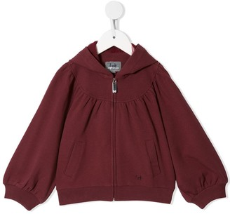 Il Gufo Pleated Zipped Hoodie