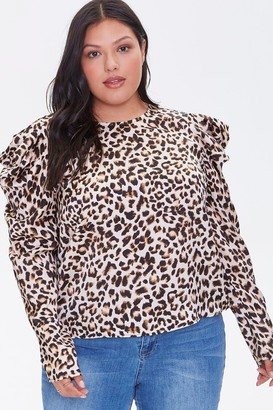 Forever 21 Plus Size Leopard Print Top