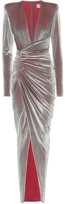 Alexandre Vauthier Stretch-velvet gown
