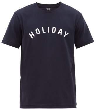 Holiday Boileau Logo-print Cotton T-shirt - Mens - Navy