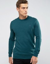 Jack Wills Seabourne Crew Sweater in Green