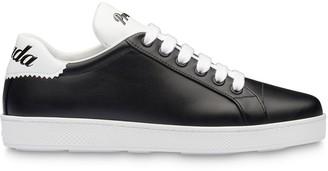 Prada leather monochrome sneakers