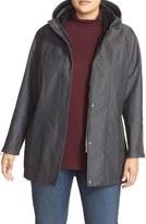 Kristen Blake Plus Size Women's Water Repellent Hooded Soft Shell Jacket