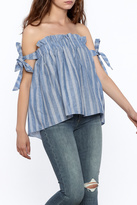 Do & Be Stripe Off Shoulder Top