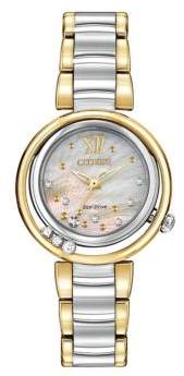 Citizen Ladies Eco Drive Two Tone Watch with Floating Diamonds