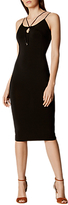Karen Millen Strappy Jersey Pencil Dress, Black
