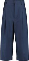 Marni Cropped wool-twill wide-leg pants