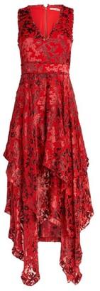 Alice + Olivia Alice+Olivia Floral Handkerchief Dress