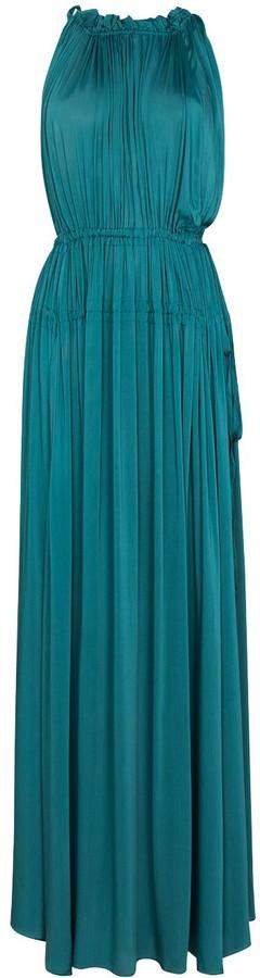 BONDI BORN Resplendent gathered-detailing gown