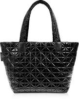 Vee Collective Vee Medium Black Vinyl Nylon Tote Bag
