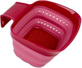 Squish® Over-the-Sink 2 qt. Collapsible Colander in Burgundy