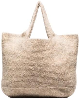 LAUREN MANOOGIAN Large Wool Tote Bag