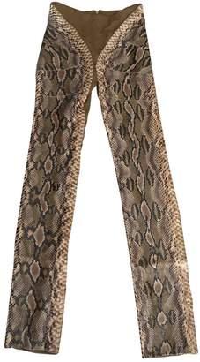 Gianfranco Ferre Beige Python Trousers
