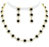 Ice Crystal Tennis Necklace Set Silver Bridesmaid Jewelry Boxed (Box O2)