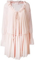 See by Chloe bohemian ruffled dress - women - Cotton/Polyester - XS