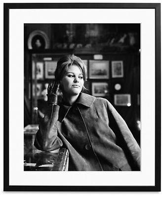 Sonic Editions Large Claudia Cardinale In A Cafe Art Print