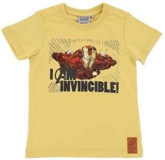 Iron Man Ironman Print Cotton Jersey T-Shirt