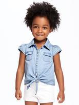 Old Navy Chambray Tie-Hem Shirt for Toddler Girls