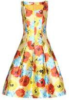 Oscar de la Renta Silk-blend dress