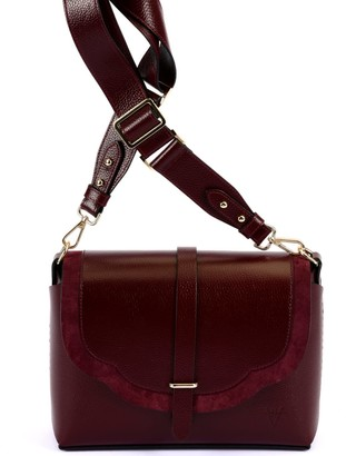 Atelier Hiva Harmonia Leather Bag Burgundy & Burgundy Suede