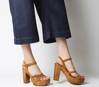 Office Hold-up Heels Tan Suede
