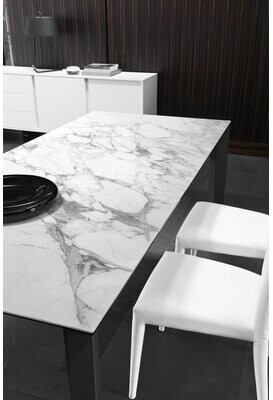 Calligaris Delta Extendable Dining Table Top Color: Stone Gray