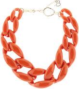 Diana Broussard Orange Plexiglass Nate Chain Necklace