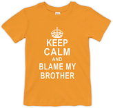 Urban Smalls Orange 'Blame My Brother' Crewneck Tee - Toddler & Boys