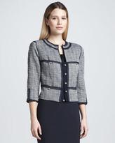 Magaschoni Trim-Detail Boucle Jacket