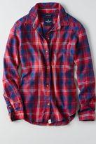 American Eagle Outfitters AE Plaid Boyfriend Shirt
