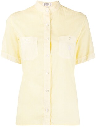 Céline Pre Owned 1970s Pre-Owned Micro Gingham Shirt
