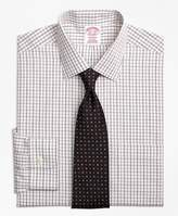 Brooks Brothers Non-Iron Madison Fit Triple Shadow Check Dress Shirt