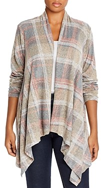 Baobab Collection Amie Plaid Waterfall Cardigan