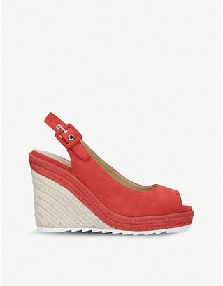 Nine West Zoey suede wedge sandals