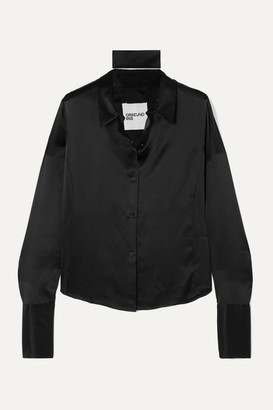 Orseund Iris Silk-satin Shirt - Black