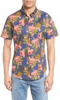 Bonobos Men's Slim Fit Tropical Print Short Sleeve Sport Shirt