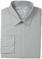 Calvin Klein Men's Regular Fit Graphic Check Dress Shirt Dress Shirt
