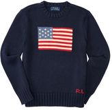 Ralph Lauren 8-20 Flag Cotton Crewneck Sweater