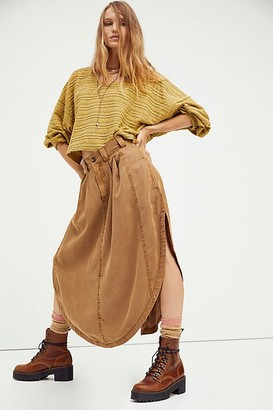 Free People All Business Shirttail Skirt