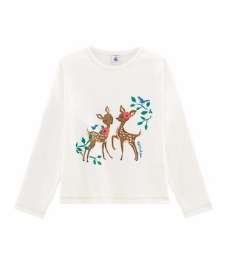 Petit Bateau Girl's Tee Shirt Ml_5225002 Long Sleeve Top