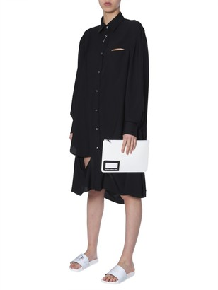 Maison Margiela Oversized Cut-Out Shirt Dress