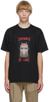 Burberry Black Labyrinth Of Love T-Shirt