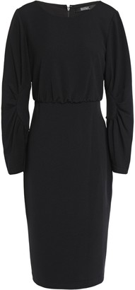 Badgley Mischka Gathered Stretch-crepe Dress