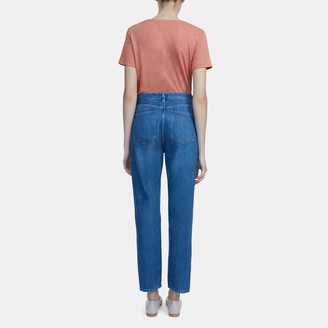 Theory Straight Leg Jean in Medium Wash Denim