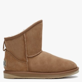 Australia Luxe Collective Cosy X Tan Double Faced Sheepskin Ankle Boots