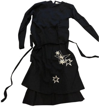 Rika Black Silk Dresses