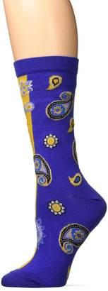 Ozone Womens Blossoming Gossip Sock-Yellow OSFM