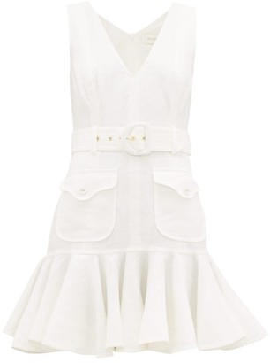 Zimmermann Safari Linen Dress - Womens - Ivory