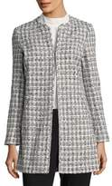 Karl Lagerfeld Open Front Tweed Topper Jacket