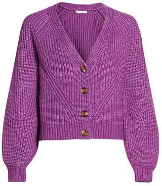 Design History Knit Puff-Sleeve Cardigan